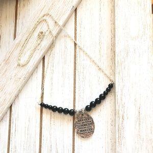 Black Jasper Inspirational Necklace